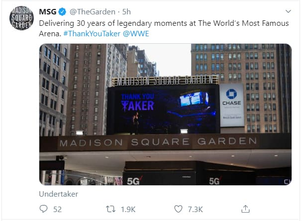 MSG's Tribute to the Undertaker
