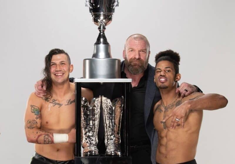 Nash Carter, Triple H and Wes Lee