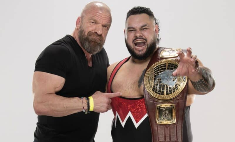 Triple H & Bronson Reed celebrate his NXT North American Championship win
